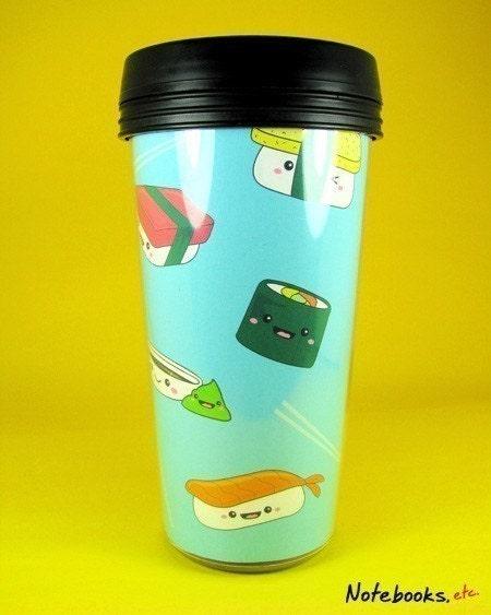 Smiling Sushi Travel Tumbler/Mug/Cup