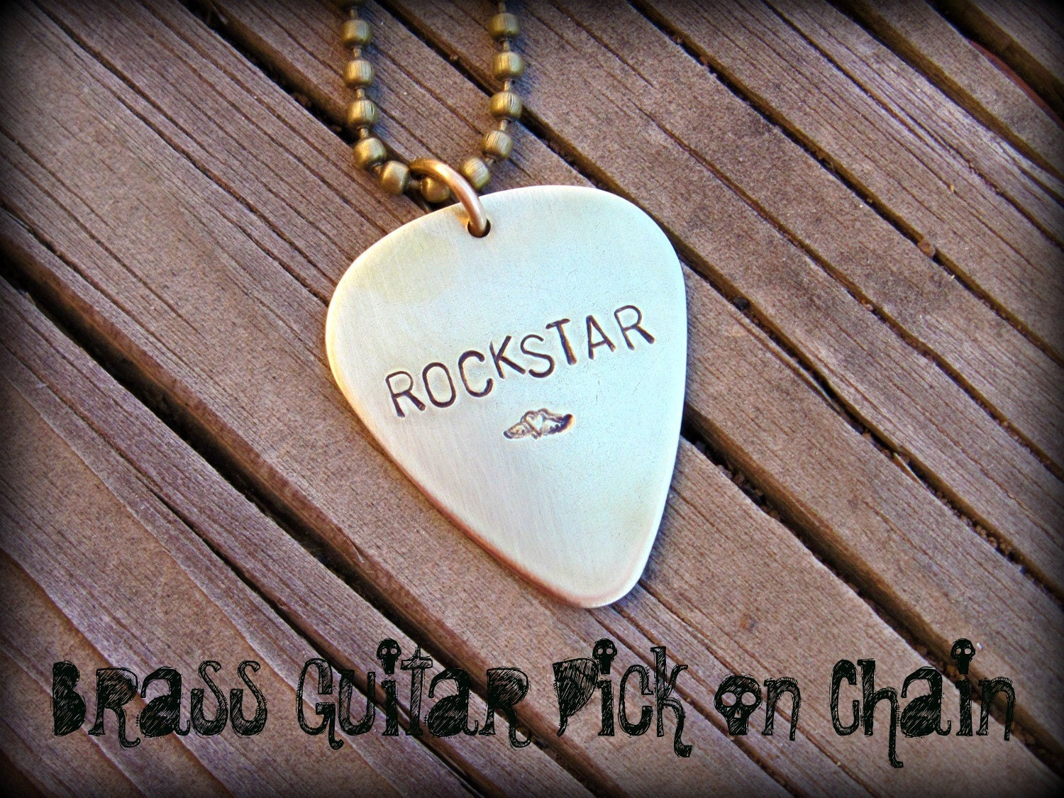 The Isaac - Nickel Silver, Brass or Copper Rocker Guitar Pick (qty 1) - Customize