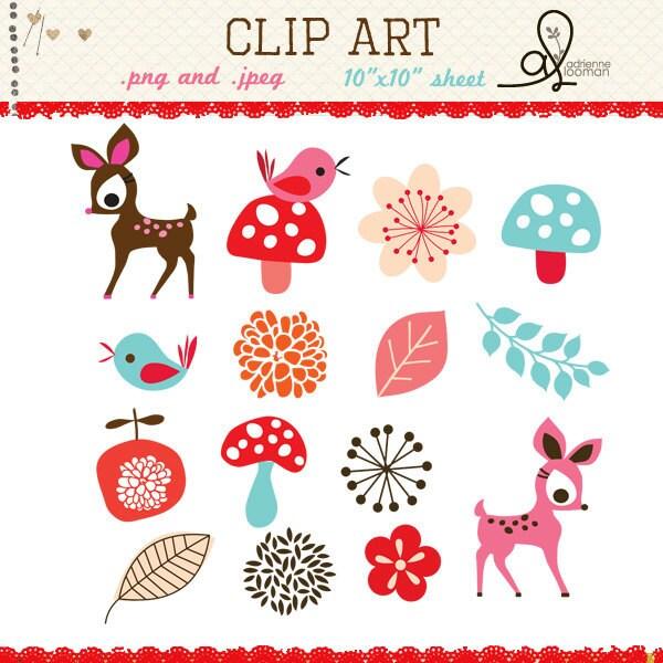 Clip art cute deer