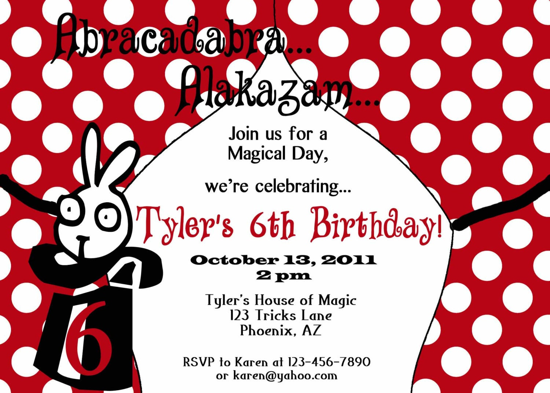 Snap Free, Printable Kids Birthday Invitations by Magic Glen ...