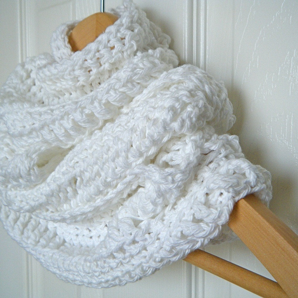 Infinitely Cotton, Cowl, Scarf, eternity scarf, Organic FREE SHIPPING