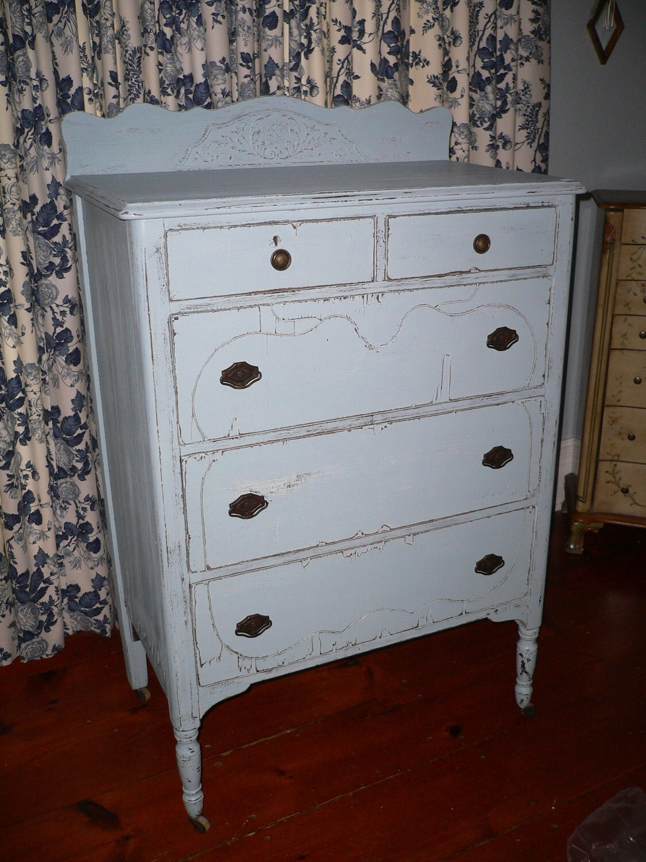 Shabby Chic Blue Shabby Chic Blue Tall Dresser