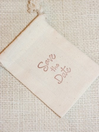 cotton muslin gift favor bag SAVE THE DATE no.1, muslin wedding favor gift bag, announcement, baby announcement, wedding announcement, muslin favor bag for soaps, candies, goody bag