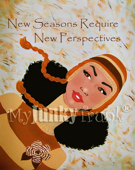 New Seasons, New Perspectives -Afro Art Print
