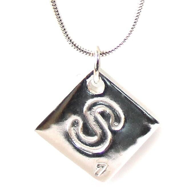 Scrabble Tile, scrabble necklace, silver scrabble, scrabble tile necklace, scrabble letter, letter necklace, initial necklace, square tile