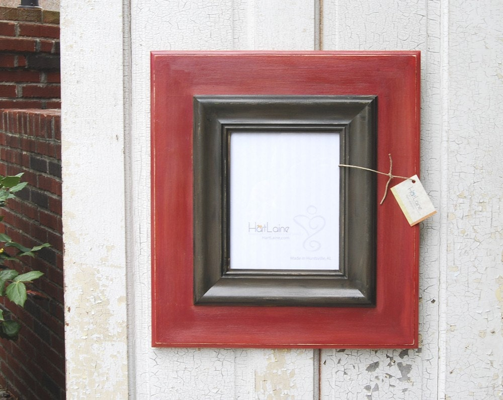 HL616 - 8x10 Coral/Red Handcrafted Picture Frame