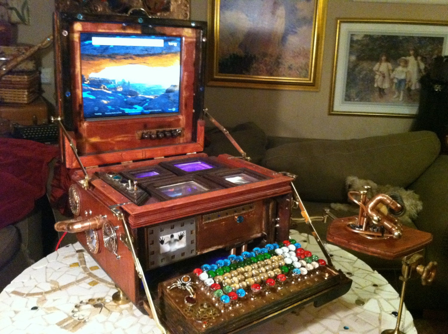 Lady Victoria - Post Apocalyptic Steampunk Computer - RagsGower