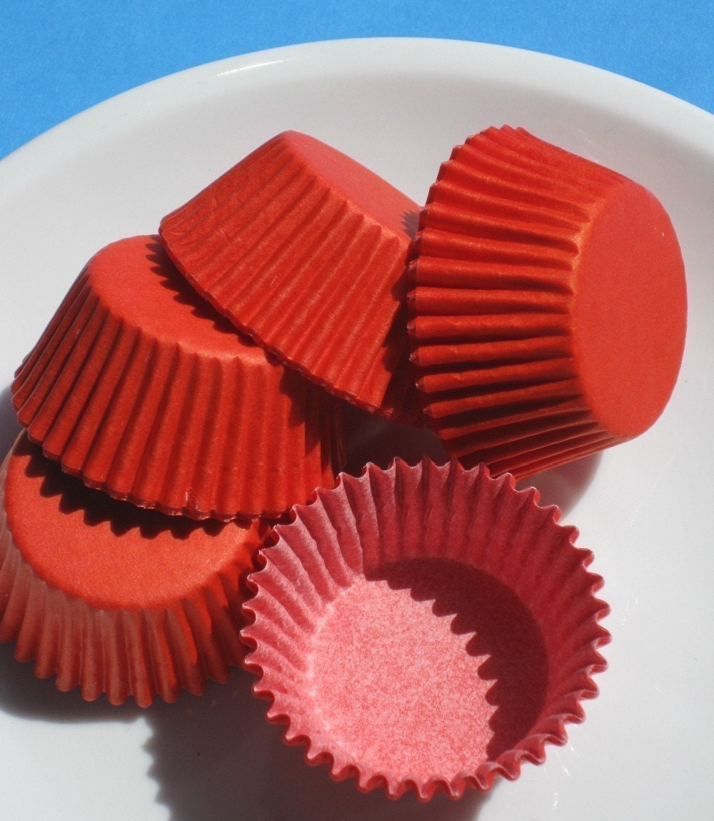 Mini Red Cupcake Liners Candy Cups (140 COUNT PACK)