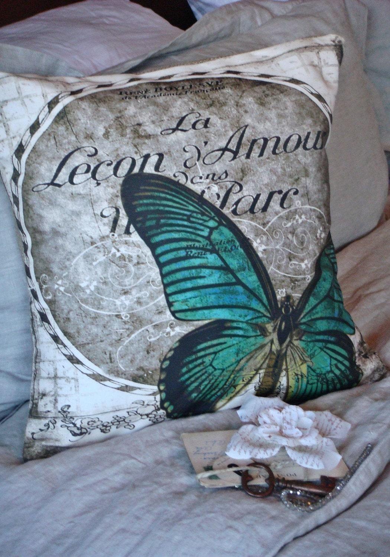 The Juliette - Cotton and Burlap Pillow Slip