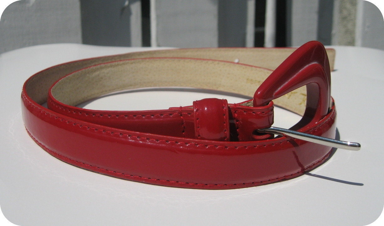 Betsey Johnson Red Patent Leather Belt