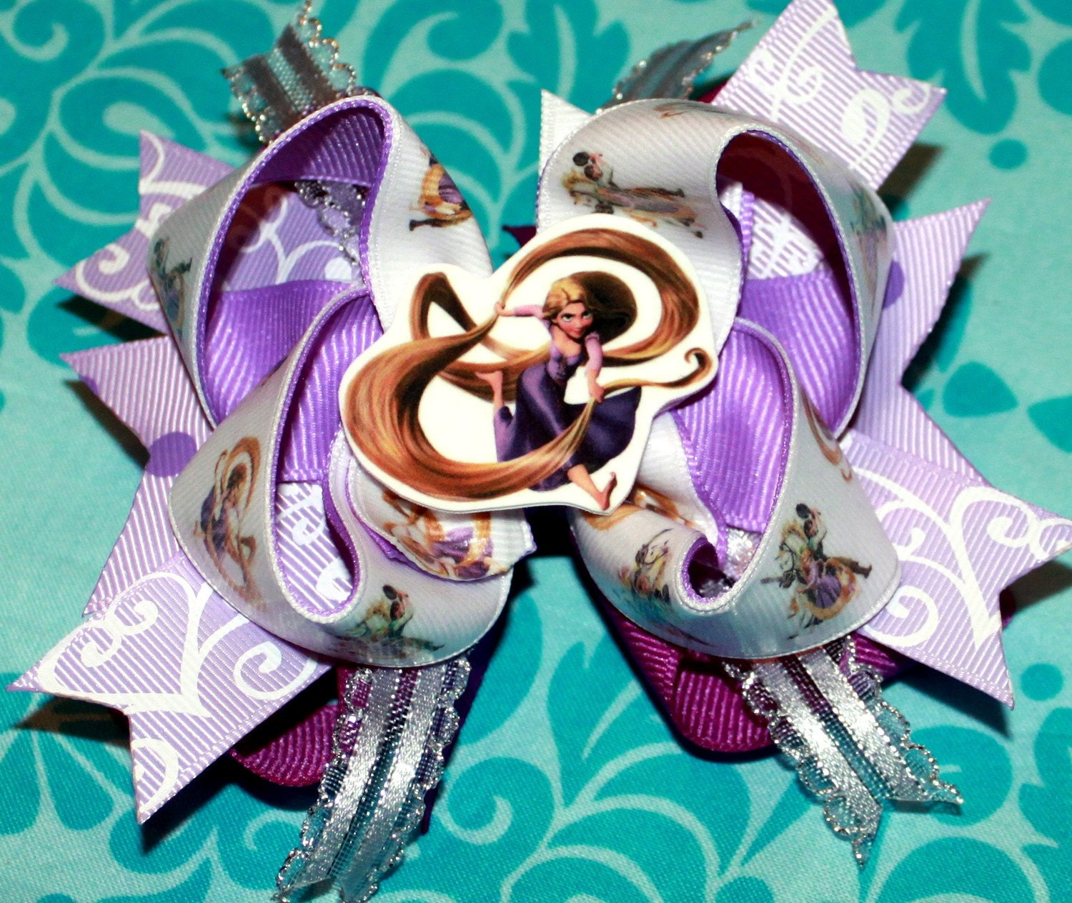 Sweet and Sassy Stacked/Layered Hairbow--Tangled--Repunzel