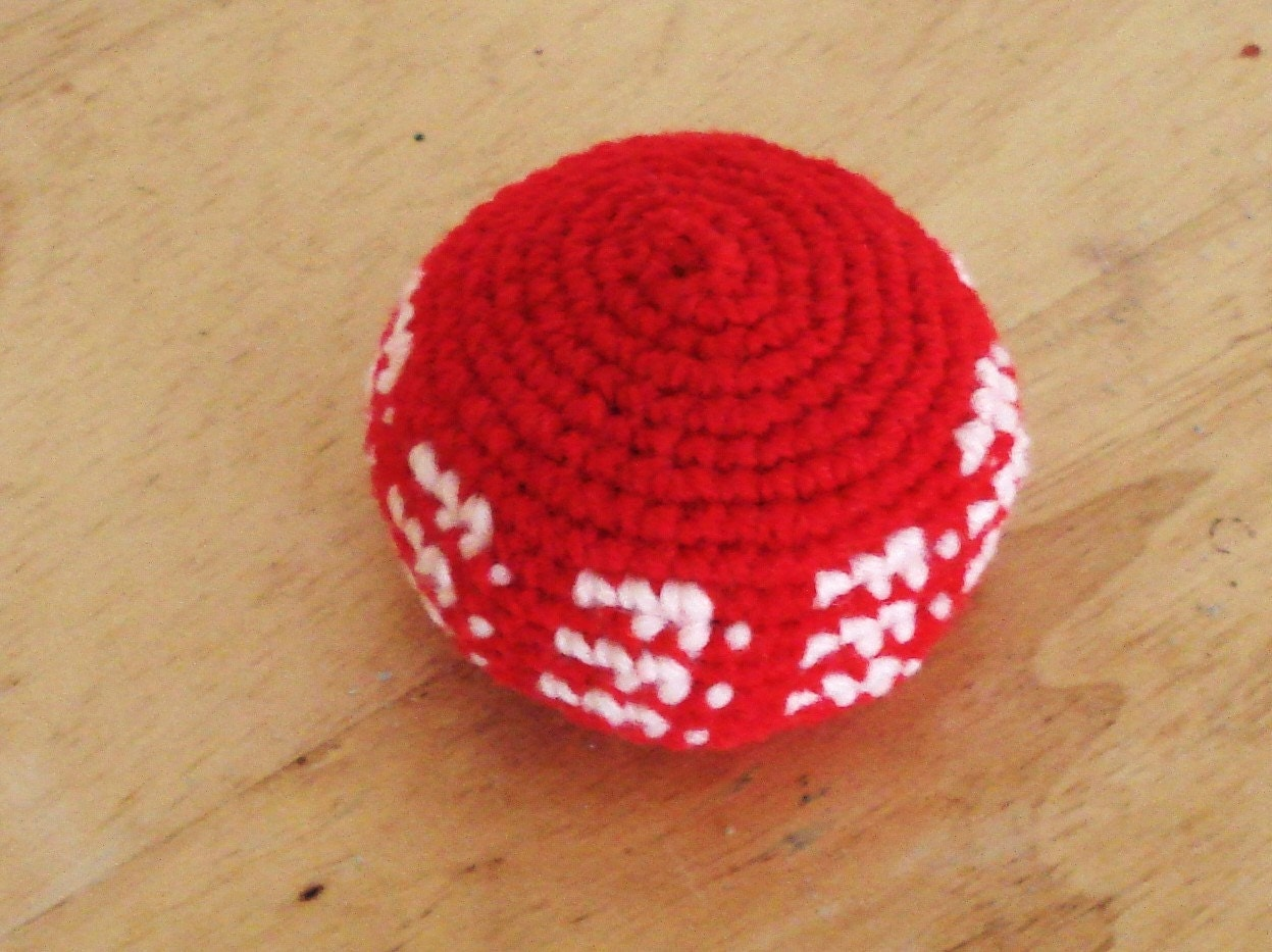 Crocheting Relieves Stress : ECO FRIENDLY Hand Crochet Bean Ball Stress Relieve Children Toy.