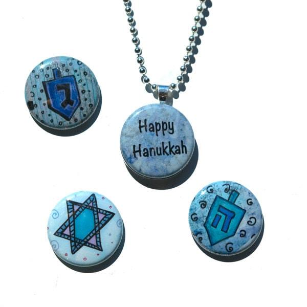 items similar to hanukkah interchangeable necklace