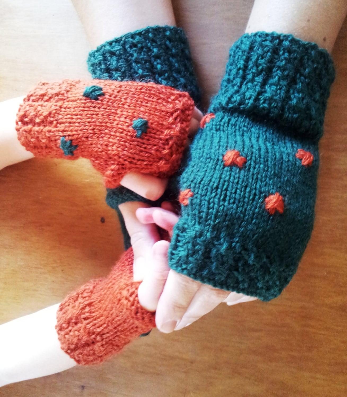 Mother and daughter fingerless gloves Custom Order