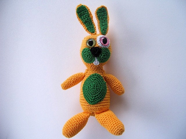 OOAK Crochet Art Doll Bunny - Roy