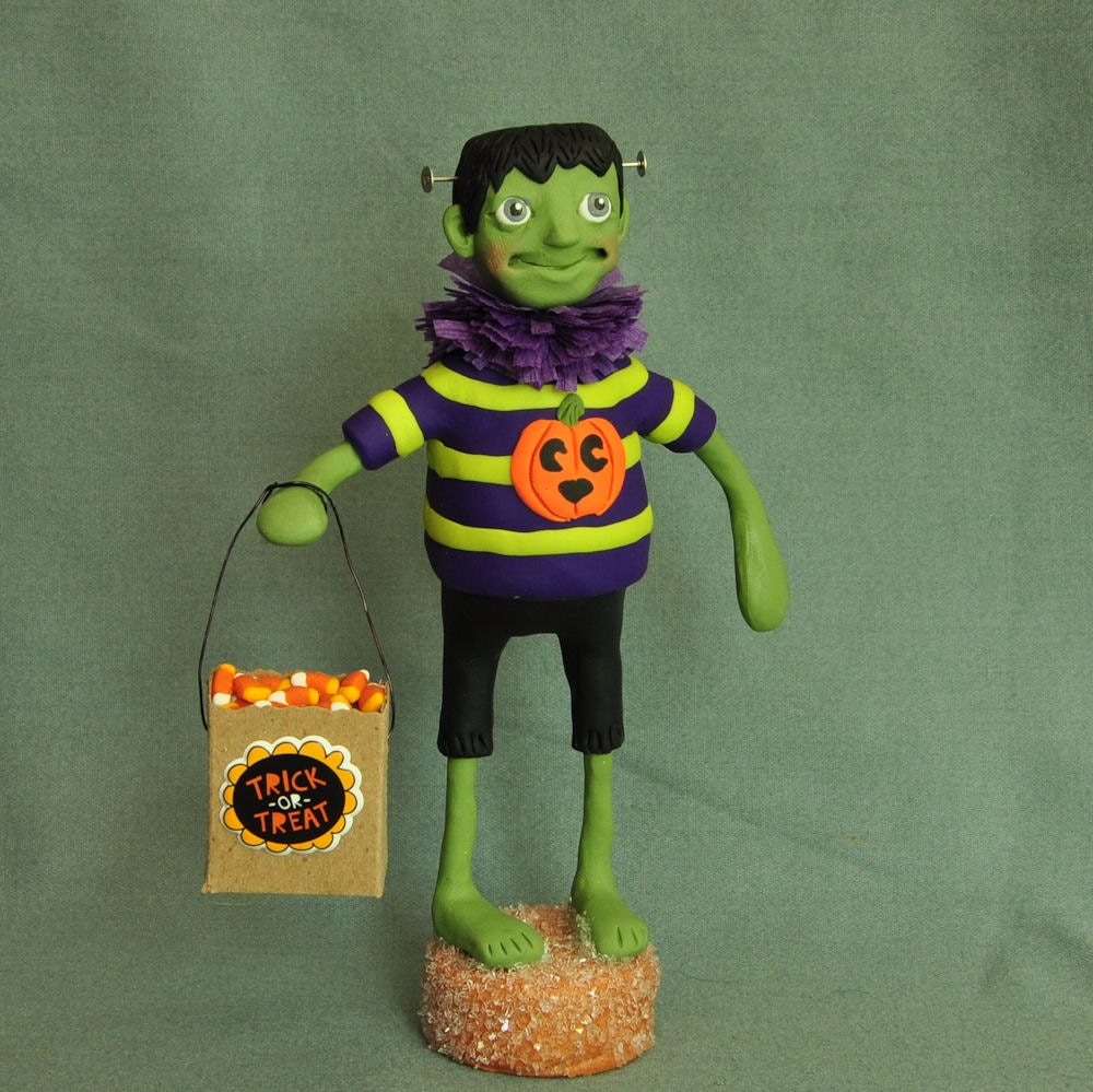 Frankenstein Monster Halloween Art Doll