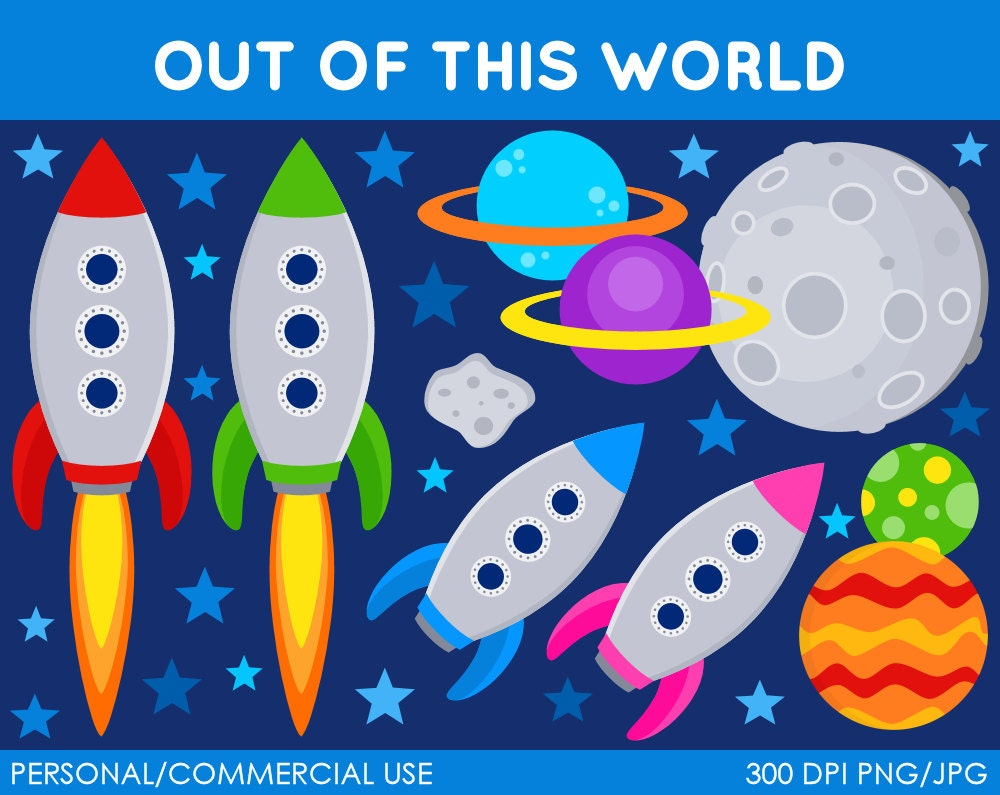 Out Of This World Clipart Digital Clip Art By MareeTruelove