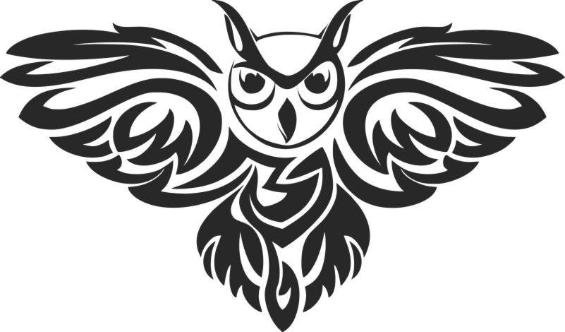 Символ совы нарисованная