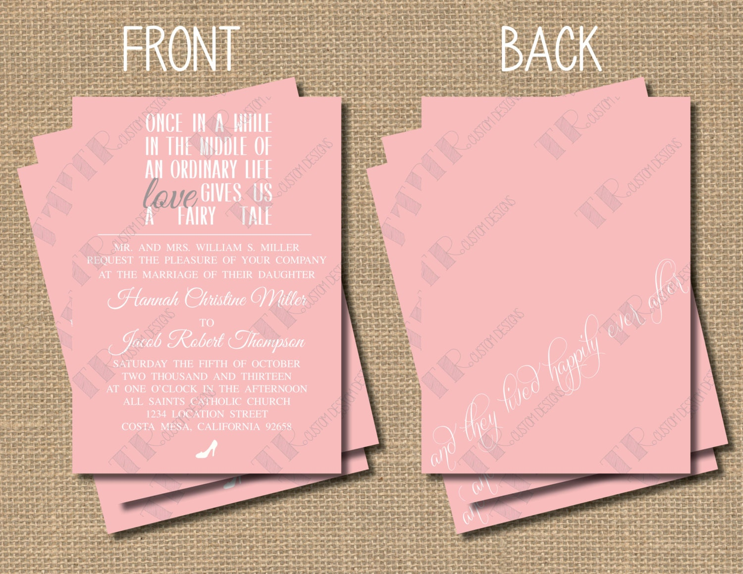 Fairy Tale Wedding Invitation Package By TRCustomDesigns On Etsy