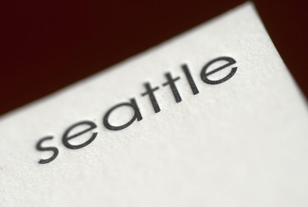 Seattle letterpress notecard