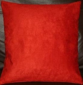 2 16 Contemporary Plain Soft Ruby Red Faux by MARIESCOSYCUSHIONS