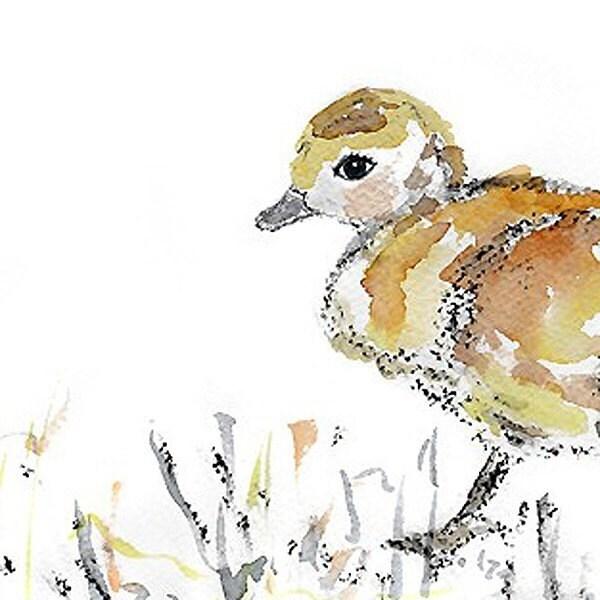 Sweet Puff 3  - Adorable Baby Birdie Art Print - Baby Steps