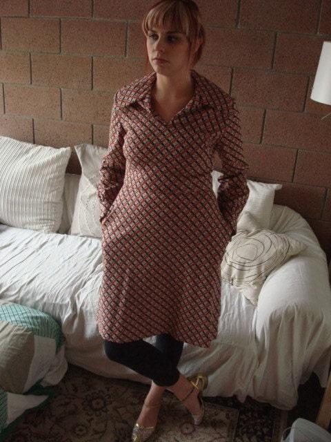 Vintage 70's Urban Cowboy Dress M/L