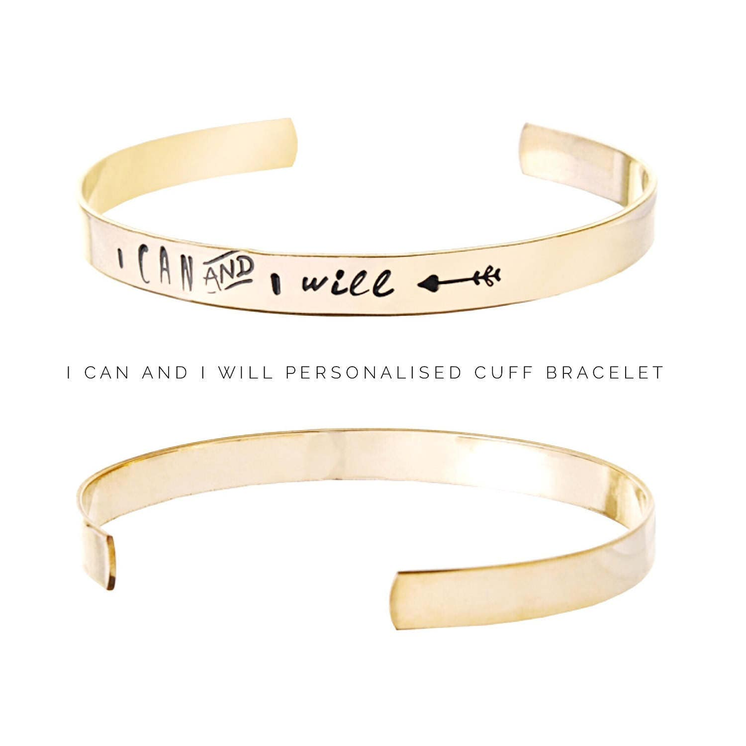 Womens gift  Personalized jewelry  I can and I will  Personalized Bracelet  Gift ideas for her  Gifts for friends (C175)