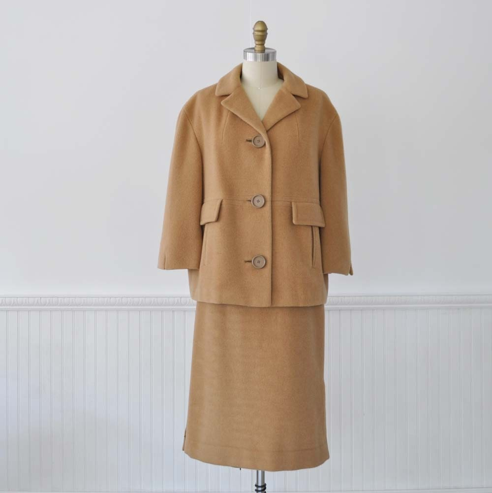 Vintage 60s Jack Feit CAMEL HAIR Suit by MariesVintage on Etsy