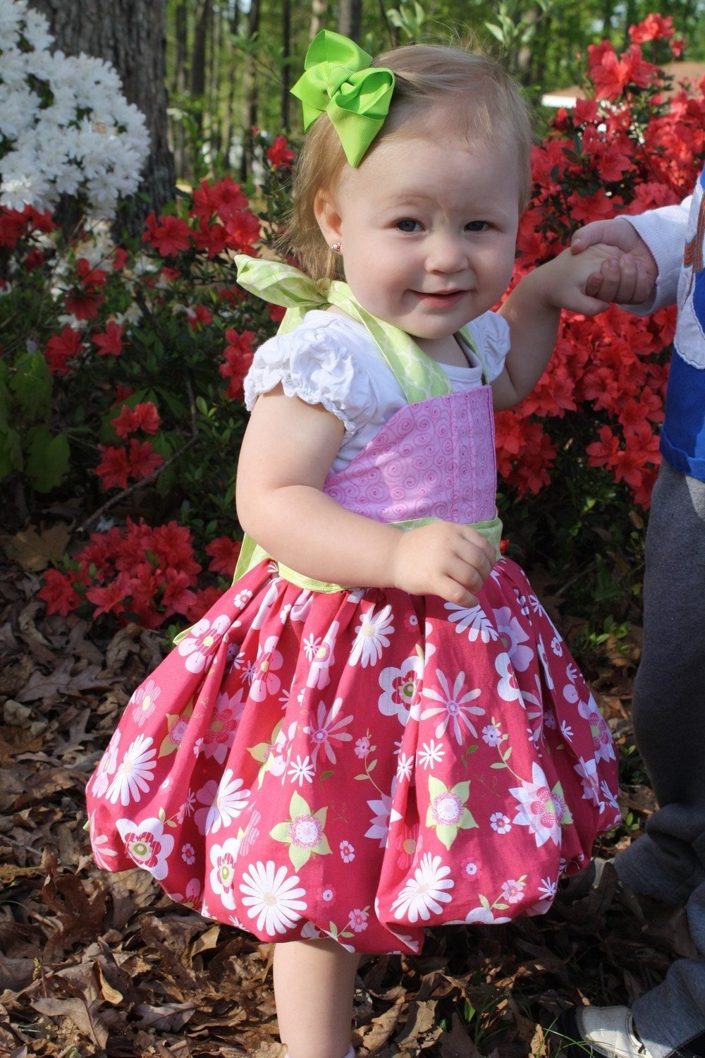 Flower Hulter top Bubble Dress 18-24months size