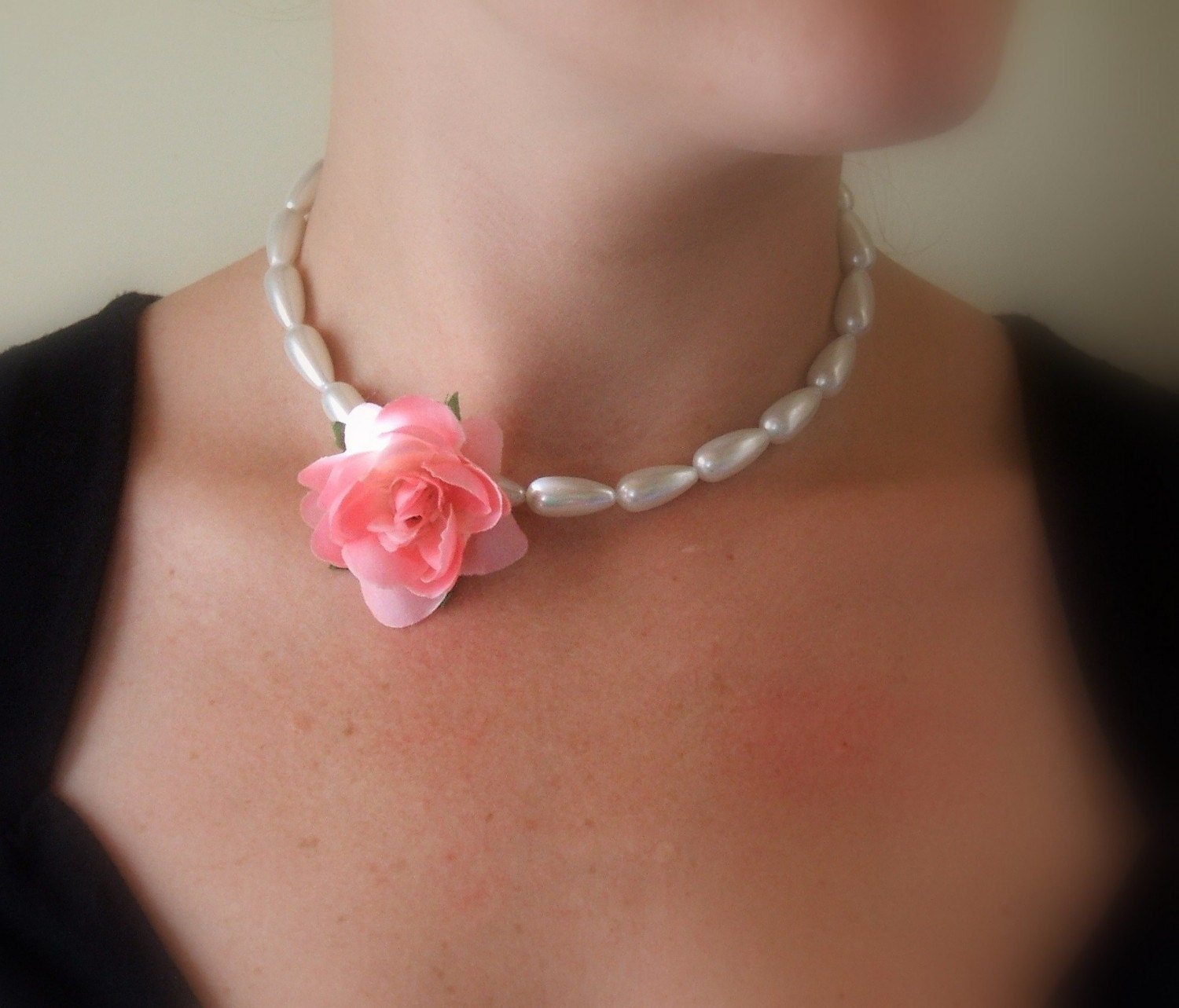Pretty In Pink Necklace by LieblingDesigns