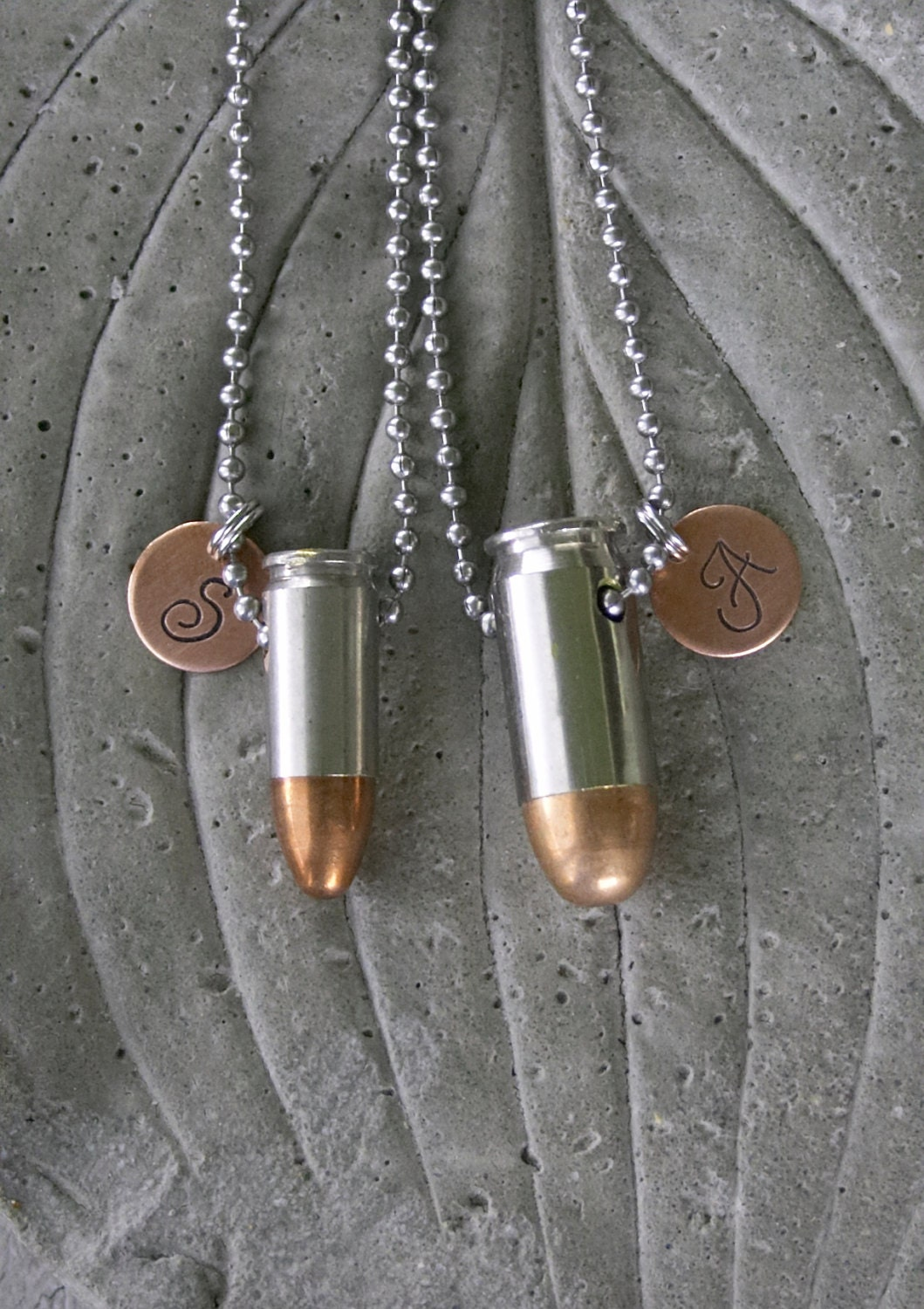 items similar to monogram initial his and hers bullet