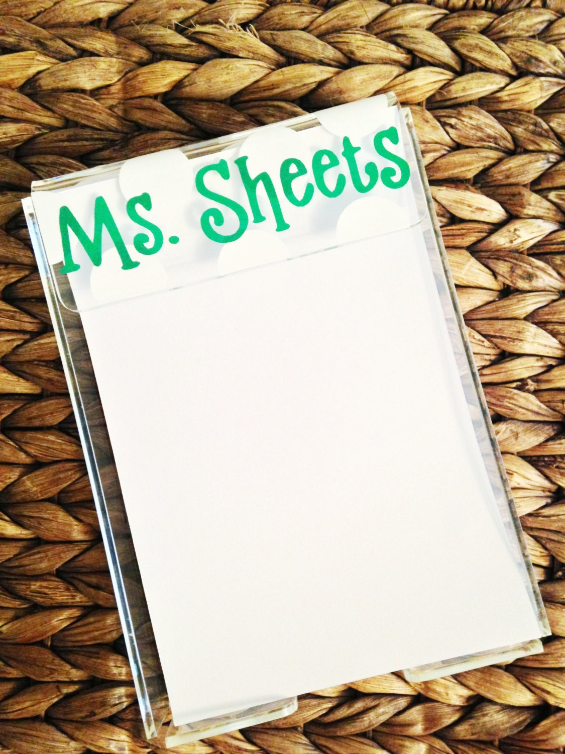 Personalized Acrylic Notepad Holder