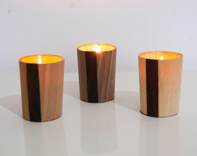 Wooden Tea-light holder - Randomlights