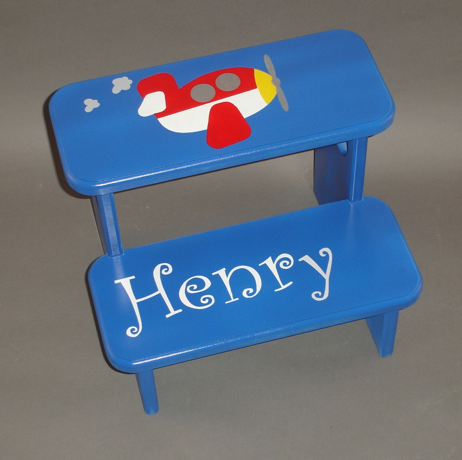 Airplane Step Stool in Blue