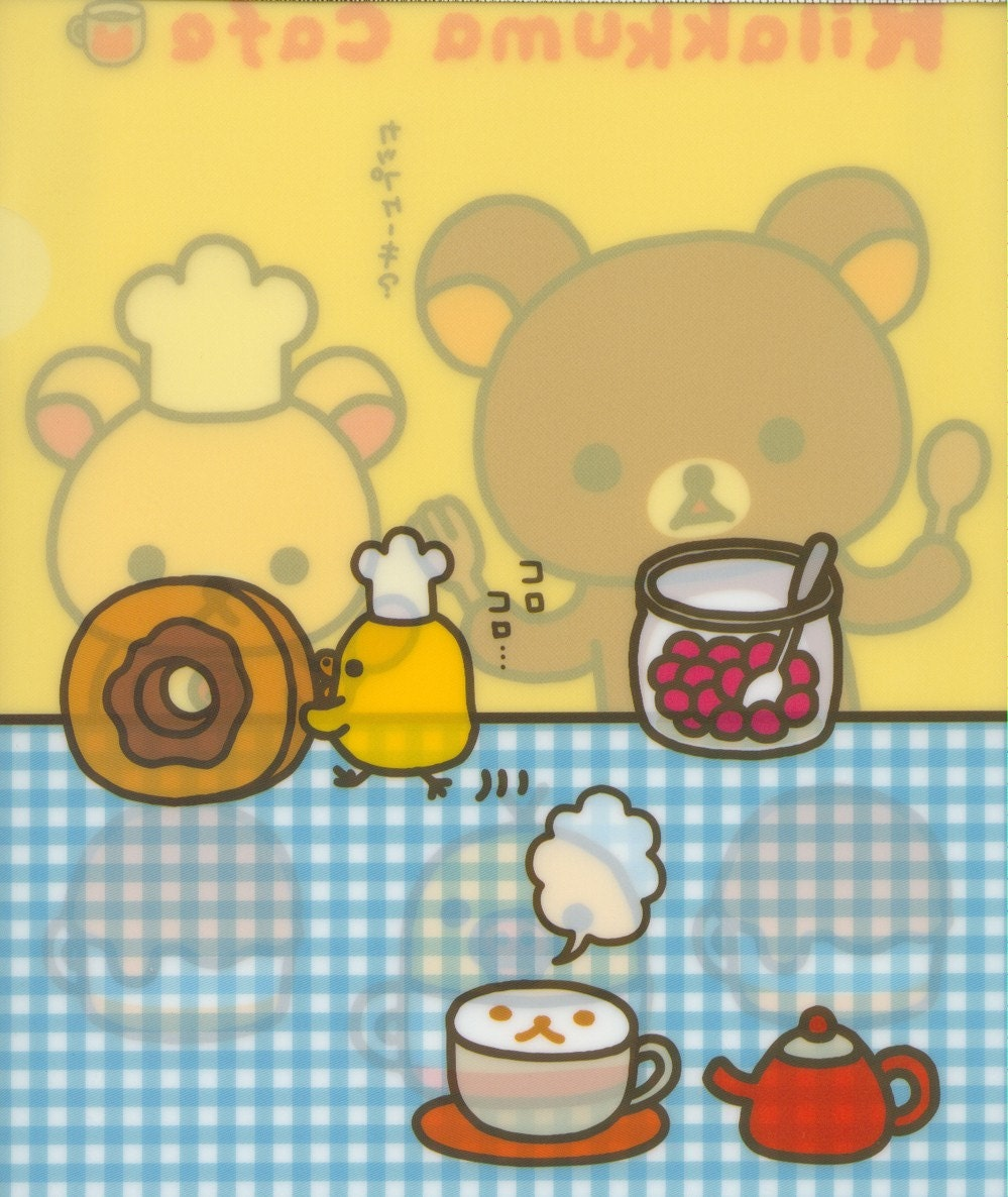 A4 File Folder - Japanese San-X Character Rilakkuma Cafe