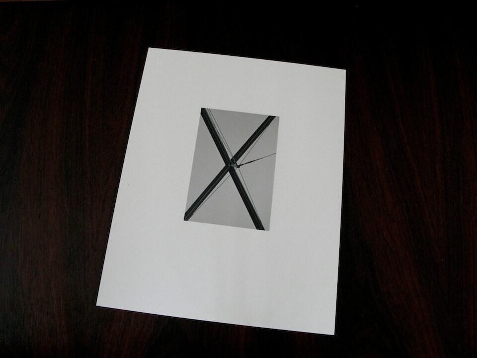 x-dry mounted gelatin silver print