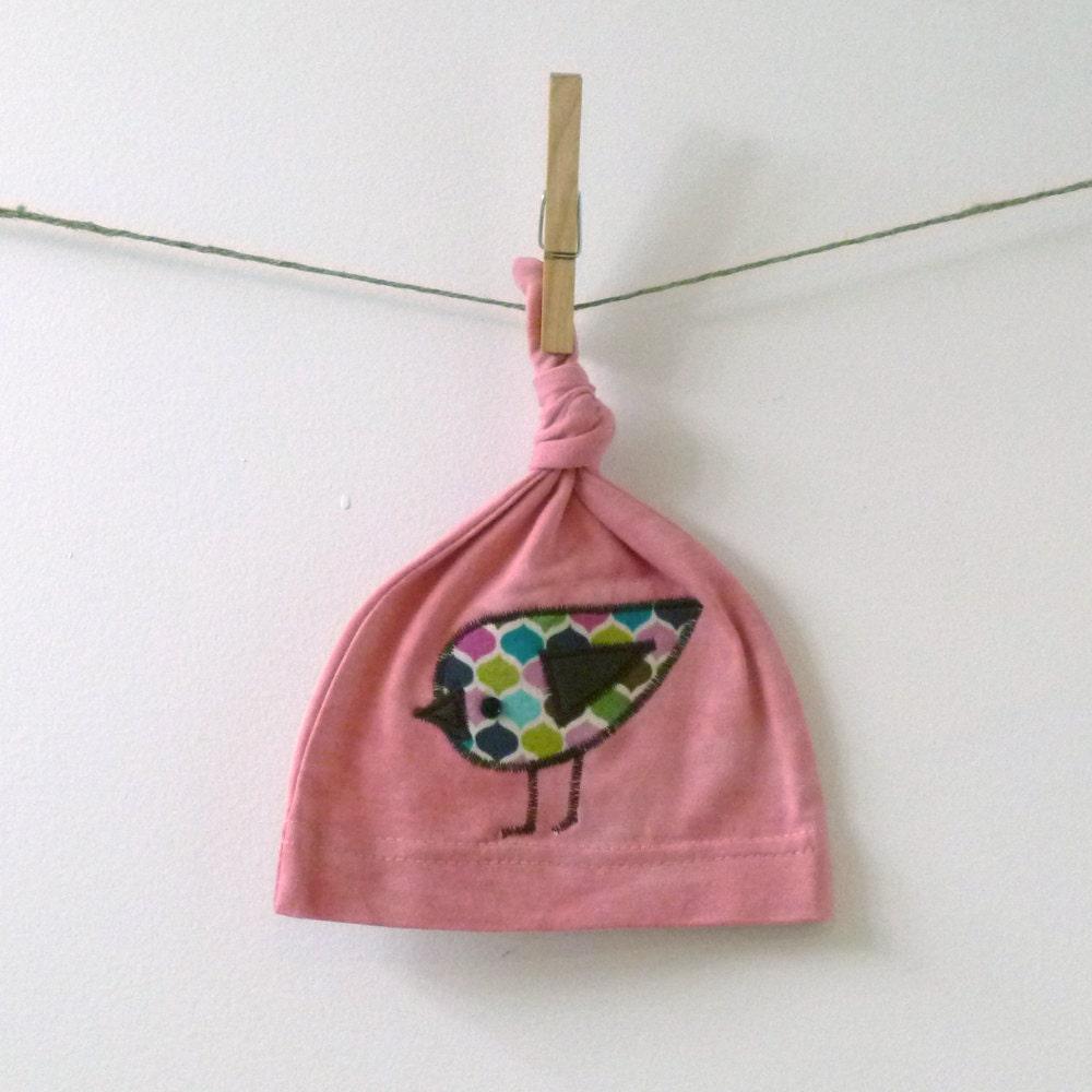 Birdie Baby Hat - Organic Cotton Baby Hat - 6m
