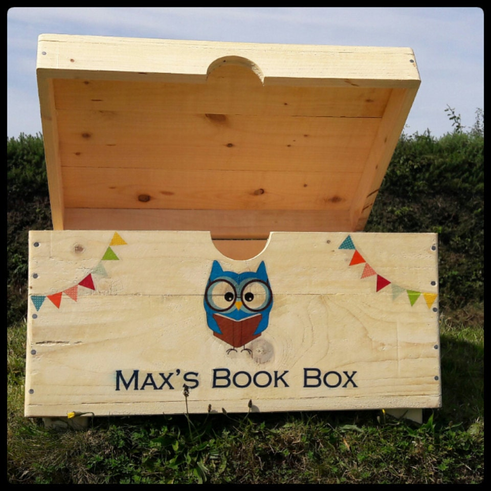 Toy Trunk Storage Chest Book Box Storage personalised with Any Wording Or Graphics