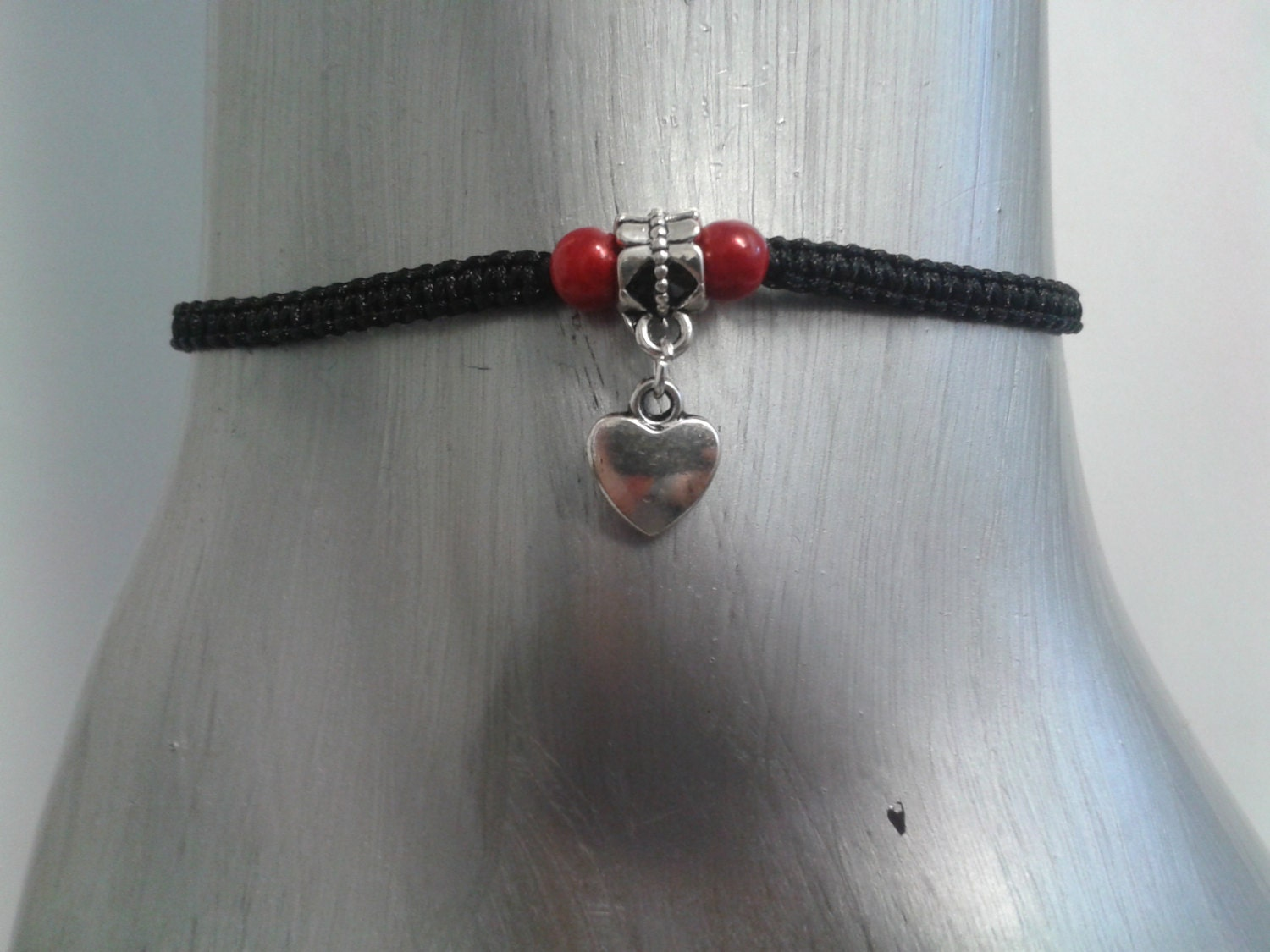Heart anklet  heart ankle bracelet  heart  anklet  ankle bracelet  mothers day  Love heart  love anklet  heart jewelry  for her