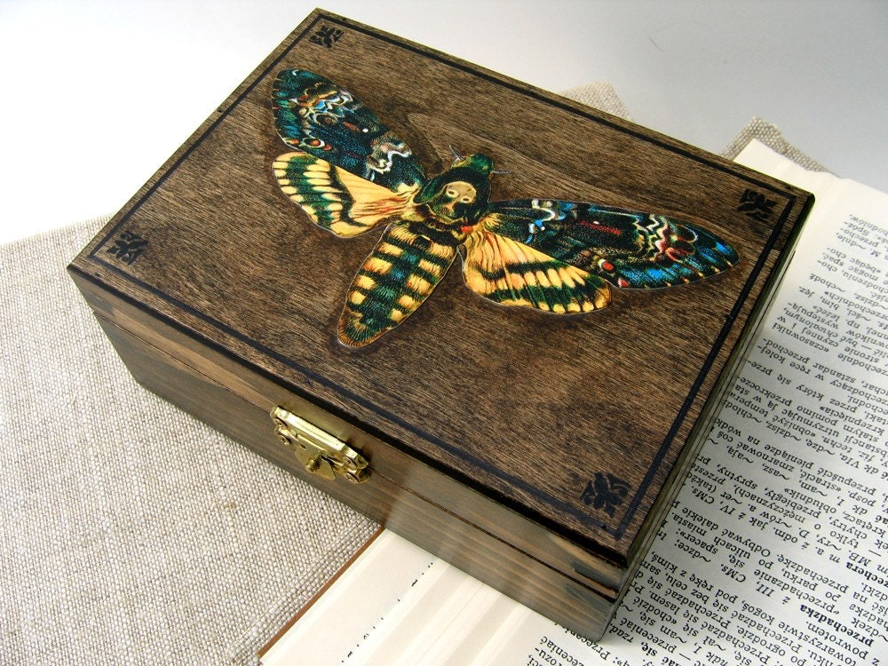 Death's Head Moth wood box