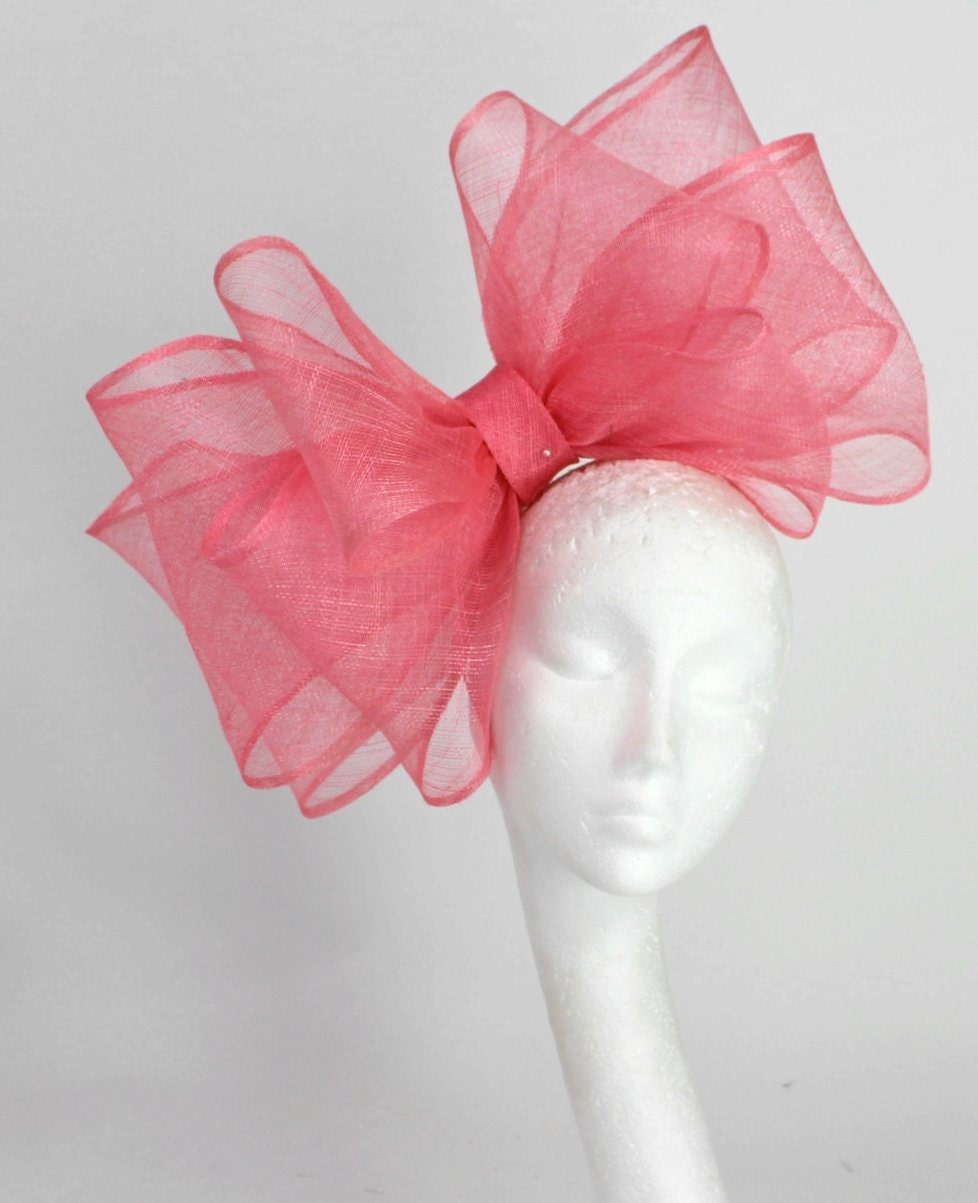 Cliverina Medium Pink/Coral Fascinator Hat For By