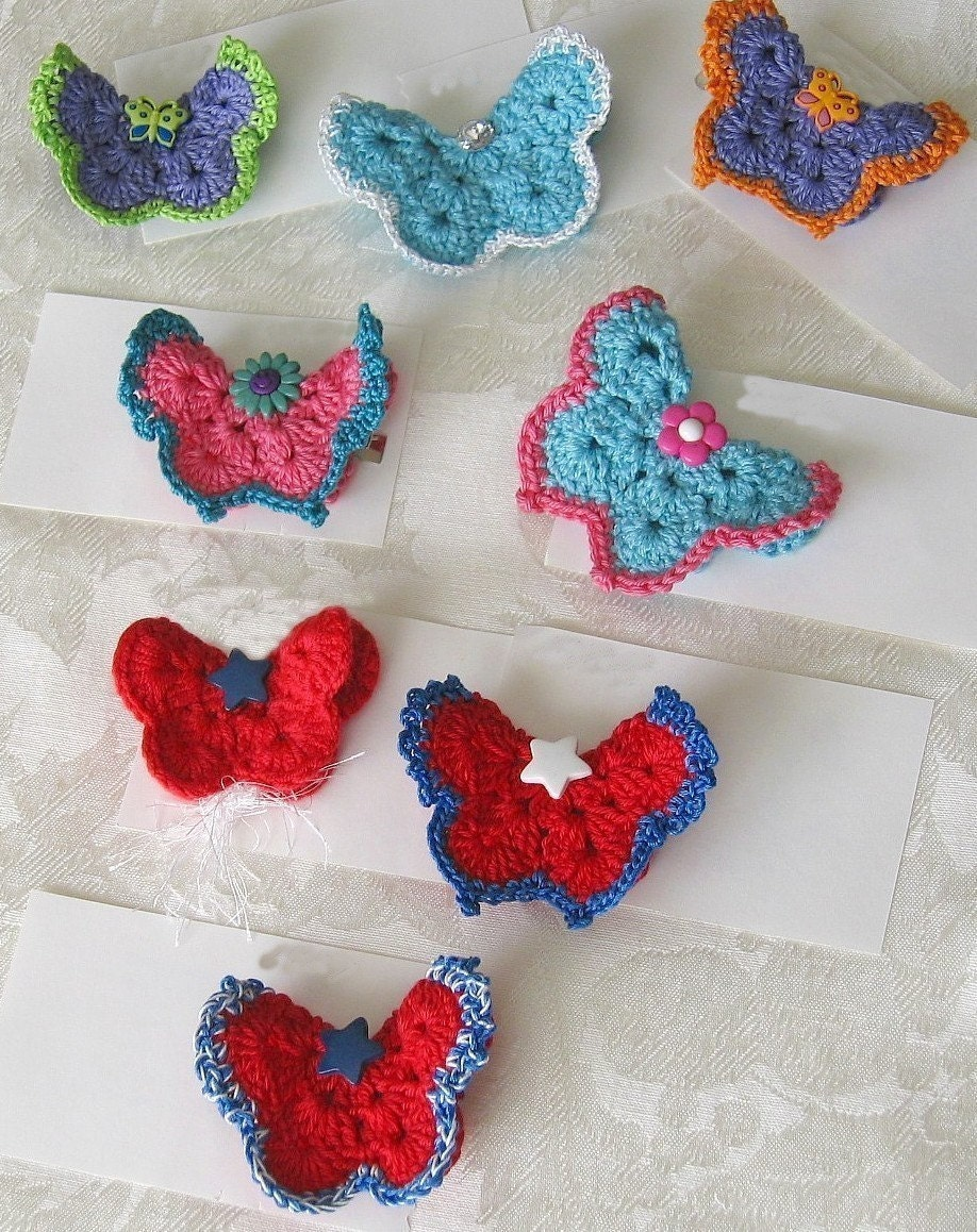 Knitting Pattern Butterfly Toy : Knitted Butterfly Pattern
