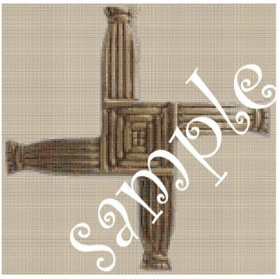 SAINT BRIGETS CROSS GODDESS BRIGIT CROSS CROSS STITCH CHART