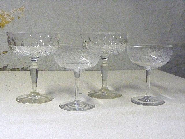 Beautiful vintage champagne glasses