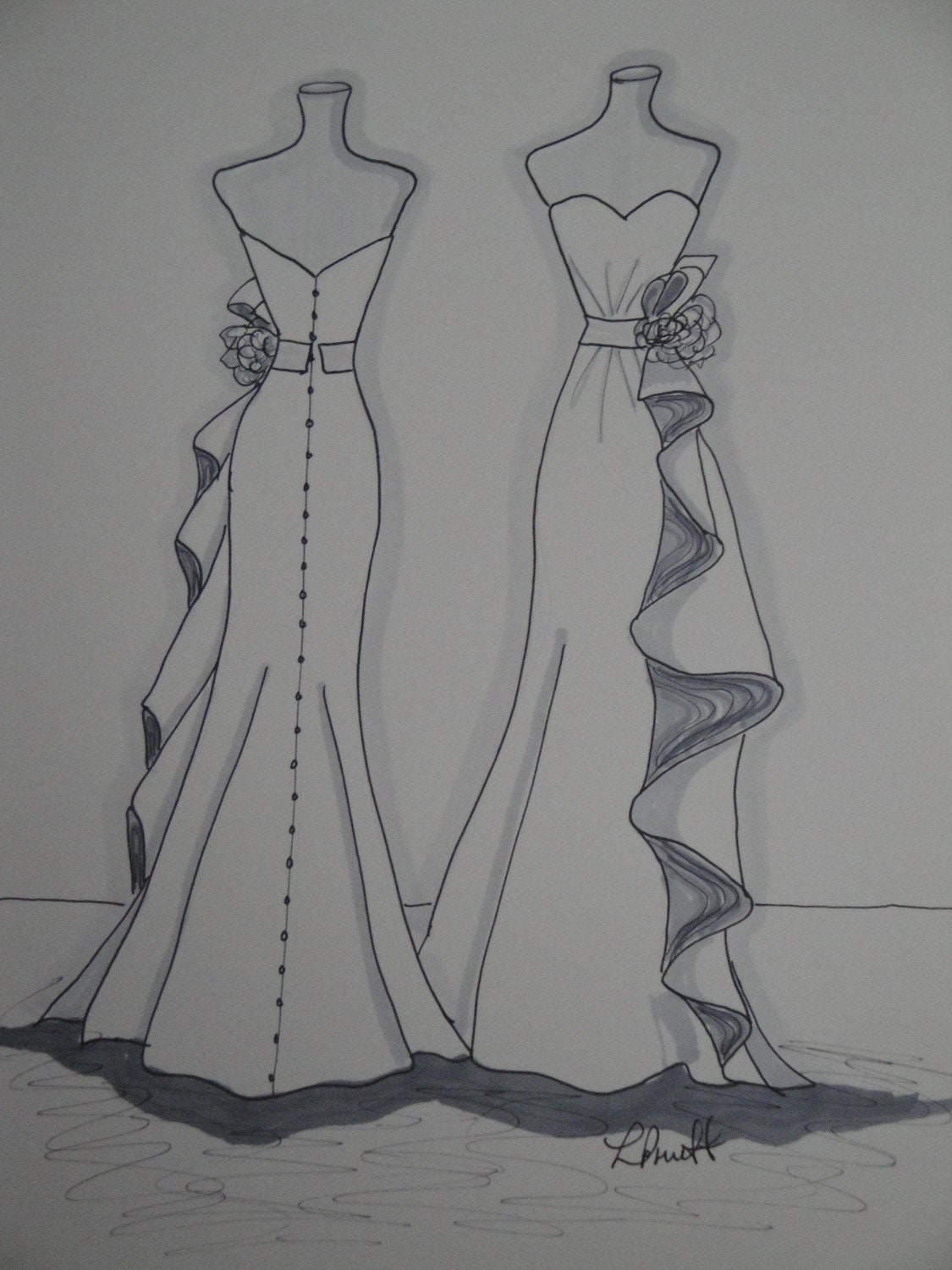 fashion figure sketches without dress