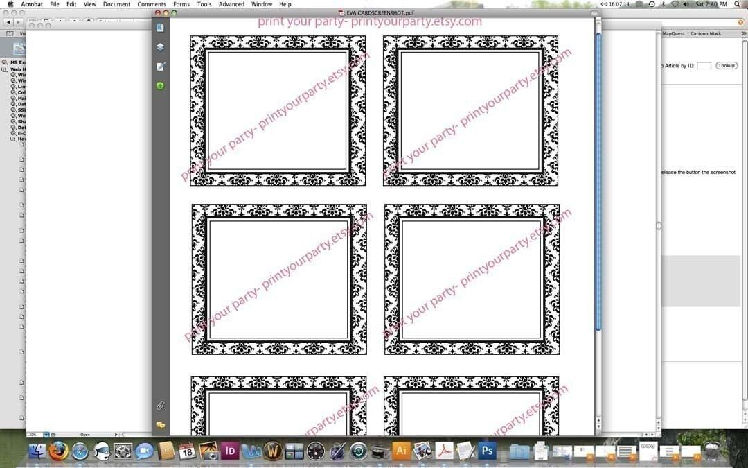 blank half fold card template