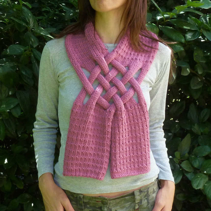 Scarf Knitting Pattern Weave PDF ebook how to easy Knit by bySol
