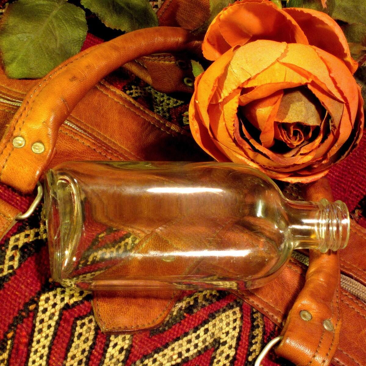 Vintage 1940's Glass Flask Bottle