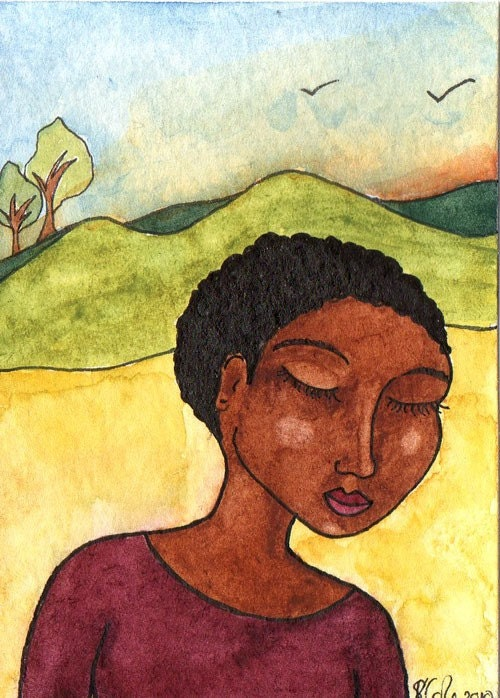 Original Watercolour ACEO - In The Moment